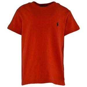 Ralph Lauren Boys Childrens Clothes Tops Red Cotton Tee Red