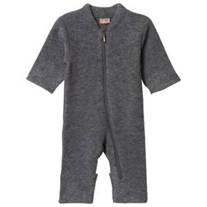 Hust&Claire; Unisex All in ones Grey Wool One-Piece Anthracite