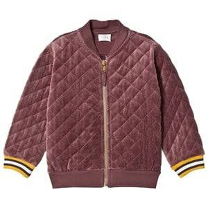 Hust&Claire; Girls Jumpers and knitwear Purple Quilted Bomber Jacket Plum