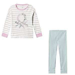 United Colors of Benetton Girls Nightwear Multi Floral Stripe Pyjama Set