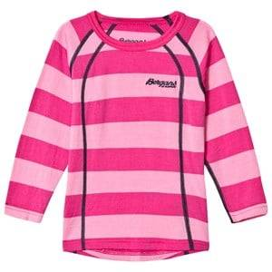 Bergans Unisex Jumpers and knitwear Pink Fjellrapp Striped Shirt Lollipop