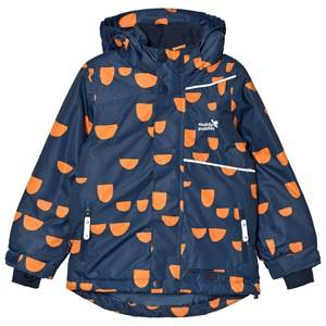 Muddy Puddles Unisex Coats and jackets Navy Navy and Orange Hoof Blizzard Ski Jacket