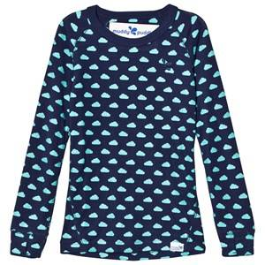 Muddy Puddles Unisex Jumpers and knitwear Navy Navy with Baltic Clouds  Base Layer Sweater