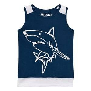 The BRAND Unisex Private Label Tops Blue Long Mesh Tank Blue
