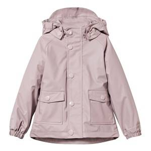 Mini A Ture Girls Childrens Clothes Coats and jackets Pink Julien Lined Rain Jacket Violet Ice
