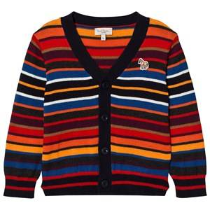 Paul Smith Junior Boys Jumpers and knitwear Multi Red and Orange Multi Stripe Cardigan