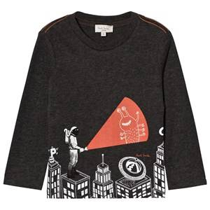 Paul Smith Junior Boys Tops Grey Dark Grey Astronaught Glow in the Dark and Reflective Tee