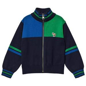 Paul Smith Junior Boys Jumpers and knitwear Navy Navy Colour Block Knit Zip Thru Cardigan