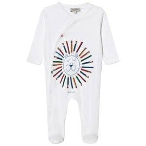Paul Smith Junior Boys All in ones White White Lion Print Babygrow