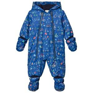 Paul Smith Junior Boys All in ones Navy Navy Bicycle Print Padded Snowsuit with Detachable Mittens and Booties