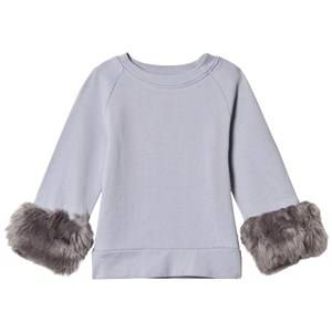 Kiss How To Kiss A Frog Girls Jumpers and knitwear Grey Furry Jumper Grey/Grey Light Grey