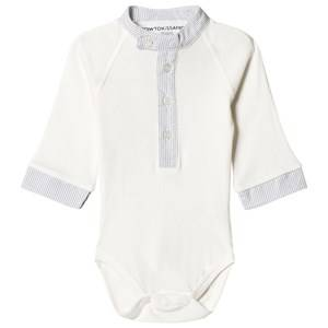 Kiss How To Kiss A Frog Boys All in ones White Body Smart Off White/ Stripe