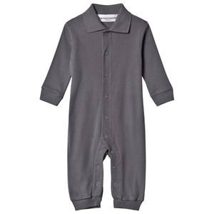 Kiss How To Kiss A Frog Boys All in ones Grey Long Romper Hare In Back Dk Grey
