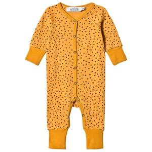 Anïve For The Minors Unisex All in ones Yellow Baby Jumpsuit Tiny Dots Yellow