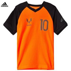 adidas Performance Boys Tops Orange Orange Messi Icon T-Shirt