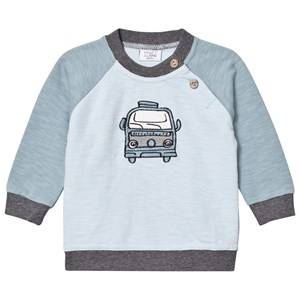 Hust&Claire; Boys Jumpers and knitwear Blue Car Sweatshirt Petrol