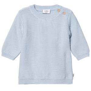 Hust&Claire; Girls Dresses Blue Knit Sweater Winter Sky