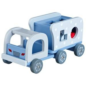 Kids Concept Unisex First toys and baby toys Blue Wooden Block Truck Blue