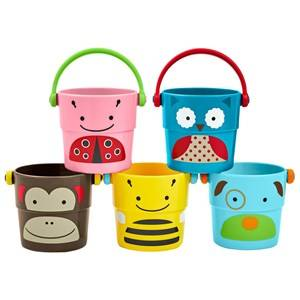 Skip Hop Unisex Norway Assort First toys and baby toys Multi Zoo Stack & Pour Buckets 5-Pack