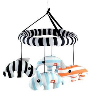 Done by Deer Unisex First toys and baby toys Blue Zoopreme 3D Musical Mobile Blue