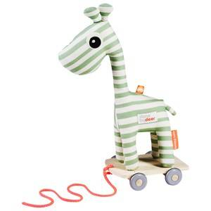Done by Deer Unisex First toys and baby toys Green Raffi Pull Along Green