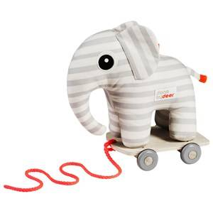 Done by Deer Unisex Norway Assort First toys and baby toys Grey Elphee Pull Along Grey