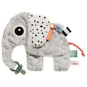 Done by Deer Unisex Norway Assort First toys and baby toys Grey Elphee Cozy Friend Grey
