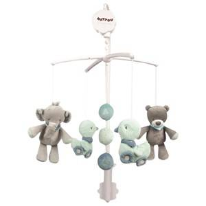 Nattou Unisex First toys and baby toys Blue Jack, Jules & Nestor Musical Mobile