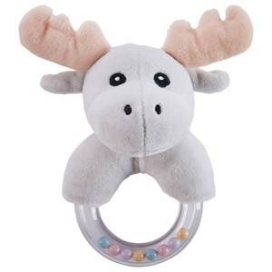 Kids Concept Unisex First toys and baby toys Grey Moose Character Teething Rattle