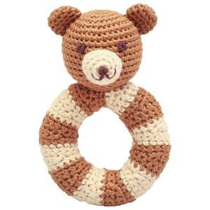 natureZOO Unisex First toys and baby toys Brown Mr. Teddy Ring Rattle