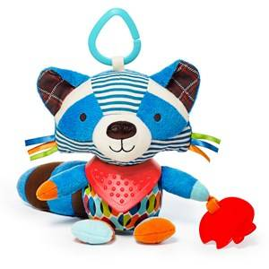 Skip Hop Unisex Norway Assort First toys and baby toys Multi Bandana Buddies Activity Animal Raccoon