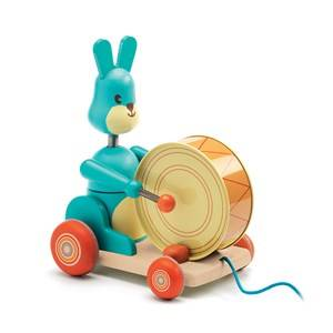 Djeco Unisex First toys and baby toys Multi Bunny Boum Pull Along Toy