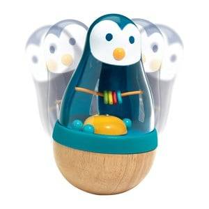 Djeco Unisex First toys and baby toys Multi Penguin Roly Poly