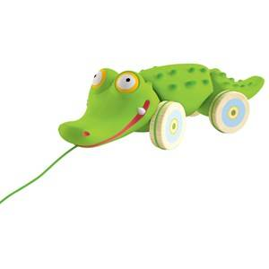 Djeco Unisex First toys and baby toys Multi Croc' n' Roll Pull Along Toy