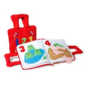 oskar&ellen; Unisex First toys and baby toys Red Räknebok