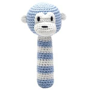 natureZOO Unisex First toys and baby toys Blue Sir Monkey Rattle Stick
