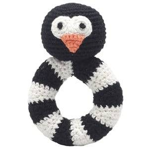 natureZOO Unisex First toys and baby toys Black Sir Penguin Ring Rattle