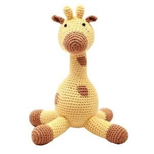 natureZOO Unisex First toys and baby toys Yellow Plush Mr Giraffe