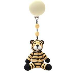 natureZOO Unisex First toys and baby toys Yellow Pram Toy Mr Tiger