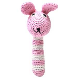 natureZOO Unisex First toys and baby toys Pink Miss Rabbit Pink Rattle Stick