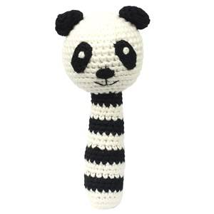 natureZOO Unisex First toys and baby toys Black Sir Panda Rattle Stick