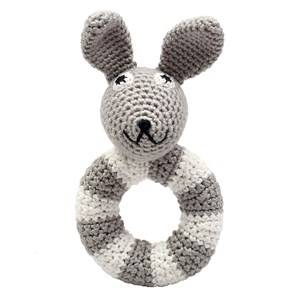 natureZOO Unisex First toys and baby toys Grey Mr. Rabbit Grey Ring Rattle