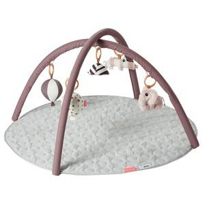 Done by Deer Girls First toys and baby toys Pink Activity Play Mat, Powder