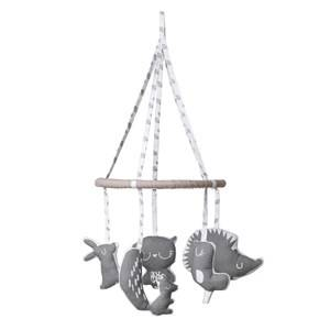 Vinter & Bloom Unisex First toys and baby toys Grey Forest Friends Mobil Grey Leaf