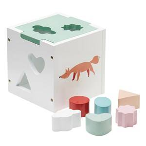Kids Concept Unisex First toys and baby toys White Edvin - Shape Sorter