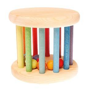 Grimms Unisex First toys and baby toys Rainbow Colored Rolling Wheel