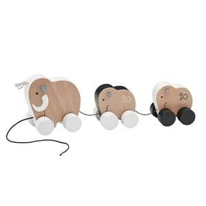 Kids Concept Unisex First toys and baby toys Beige Neo Mammoth Family Pull Along