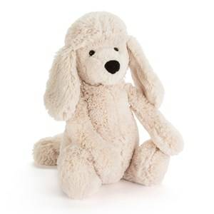Jellycat Unisex First toys and baby toys White Bashful Poodle Pup Medium