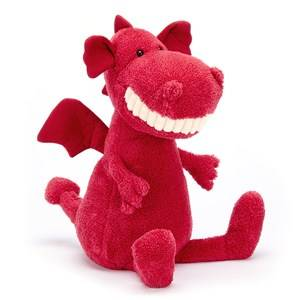Jellycat Unisex First toys and baby toys Pink Toothy Dragon