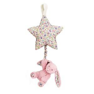 Jellycat Unisex First toys and baby toys Pink Blossom Tulip Star Musical Pull